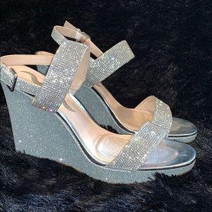 Glittery Wedge Heels